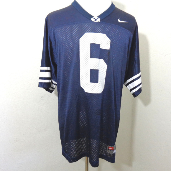 new concept 708d7 4f494 Nike BYU Brigham Young Football Jersey #6 Medium